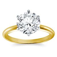 Diamantring Gelbgold