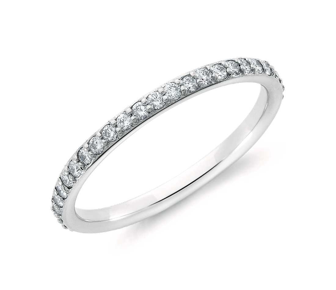Original Empire 0,18 ct Diamantband-Ring in Weißgold
