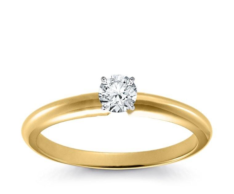 Original Empire 0,30 ct Diamantring in Gelbgold