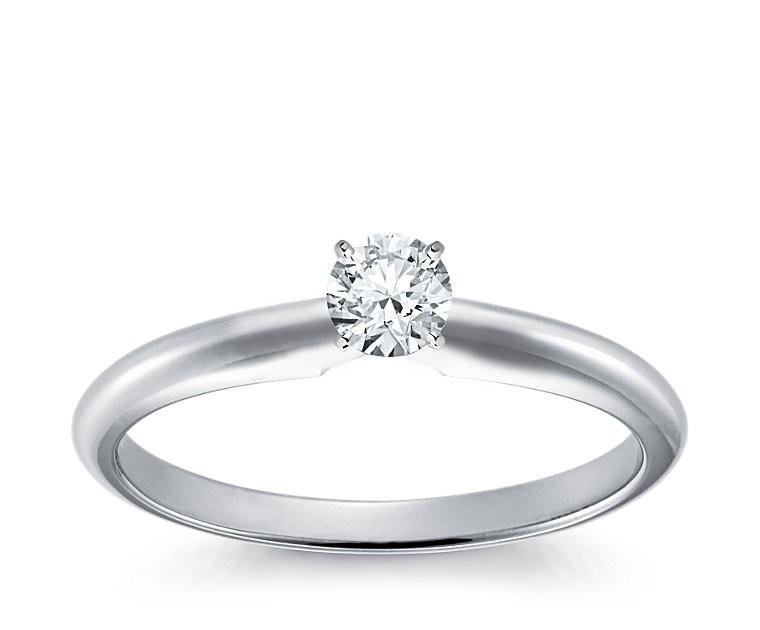 Diamantring weißgold  Verlobungsring Diamantring 0,20 ct Weißgold günstig - Queen ...