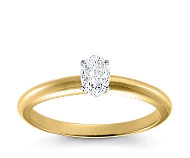Original Empire 0,20 ct Diamantring in Gelbgold
