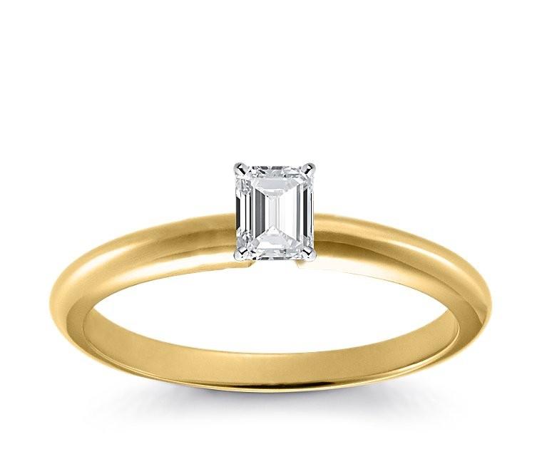 Original Empire 0,20 ct Diamantring in Gelbgold