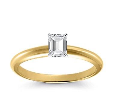 Original Empire 0,40 ct Diamantring in Gelbgold