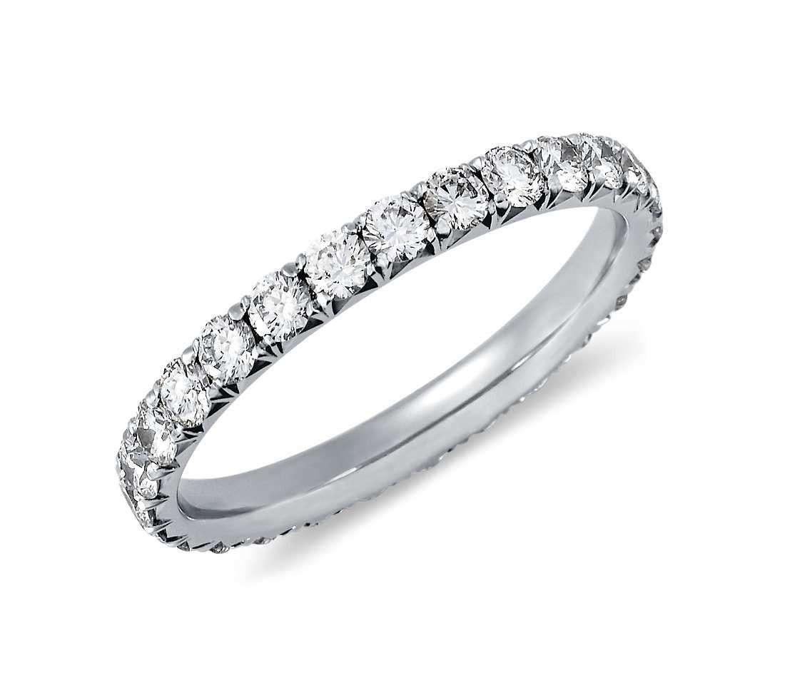 Diamantring weißgold 1 karat  Original Empire 1,00 ct Diamantband-Ring in Weißgold - Memoire ...