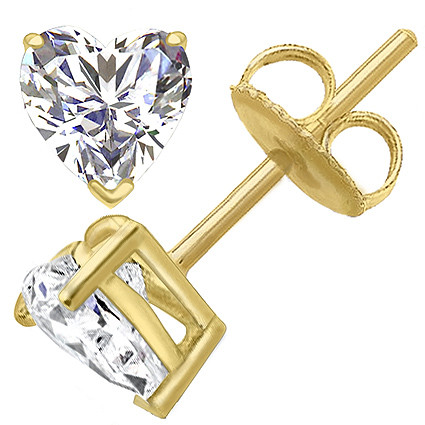 Original Empire 6,00 ct Diamantohrstecker in Gelbgold