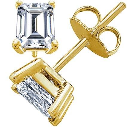 Original Empire 1,50 ct Diamantohrstecker in Gelbgold