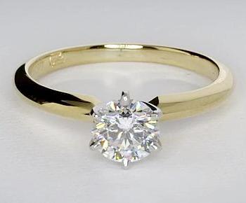 Original Empire 0,50 ct Diamantring in Gelbgold - SOFORT VERFÜGBAR