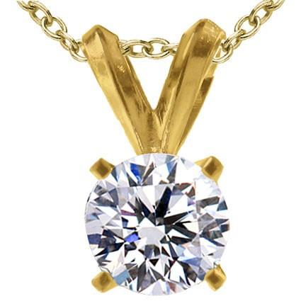 Original Empire 0,70 ct Diamantanhänger in Gelbgold