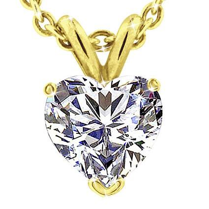 Original Empire 5,00 ct Diamantanhänger in Gelbgold