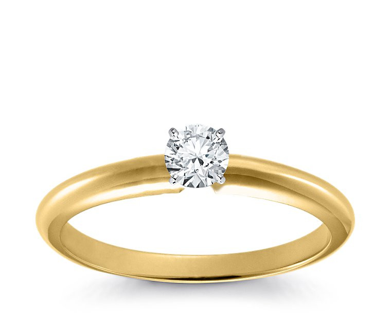Original Empire 0,30 ct Diamantring in Gelbgold