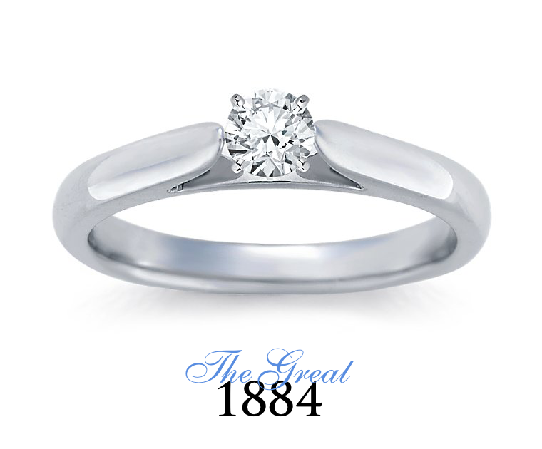 The Great 1884 - 0,20 ct Diamantring in Weissgold