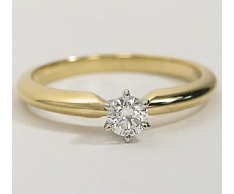 Original Empire 0,20 ct Diamantring in Gelbgold - sofort verfügbar