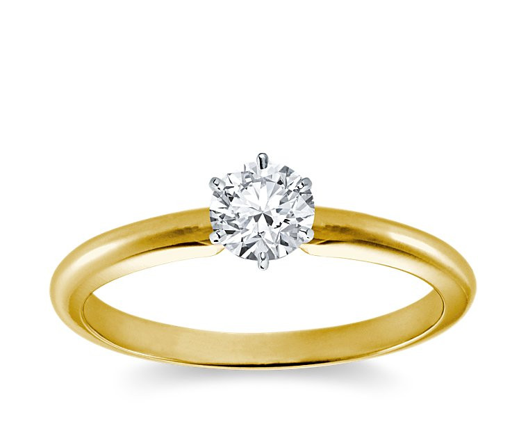 Original Empire 0,50 ct Diamantring in Gelbgold