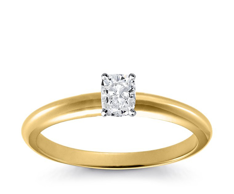 Original Empire 0,40 ct Diamantring in Gelbgold