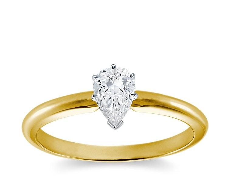 Original Empire 0,50 ct Diamantring in Gelbgold