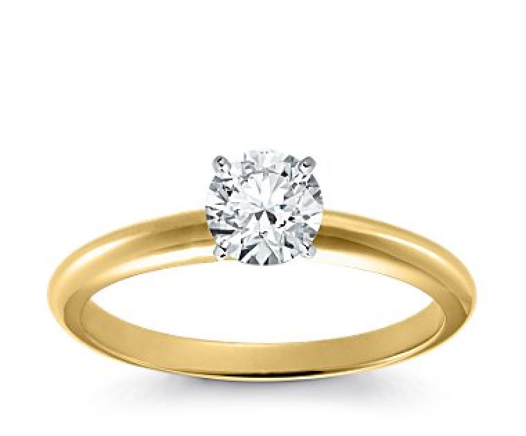 Original Empire 0,70 ct Diamantring in Gelbgold