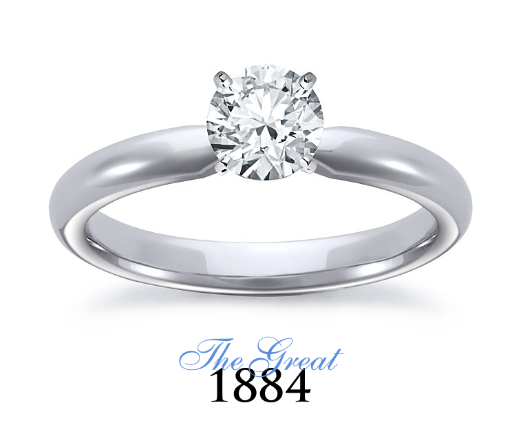 The Great 1884 - 0,70 ct Diamantring in Weissgold