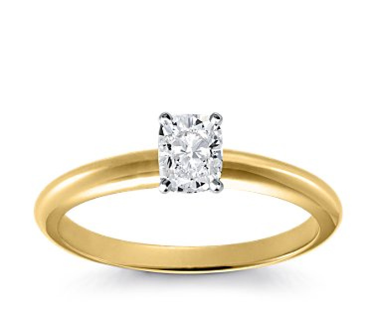 Original Empire 0,70 ct Diamantring in Gelbgold