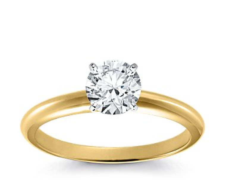 Original Empire 1,00 ct Diamantring in Gelbgold