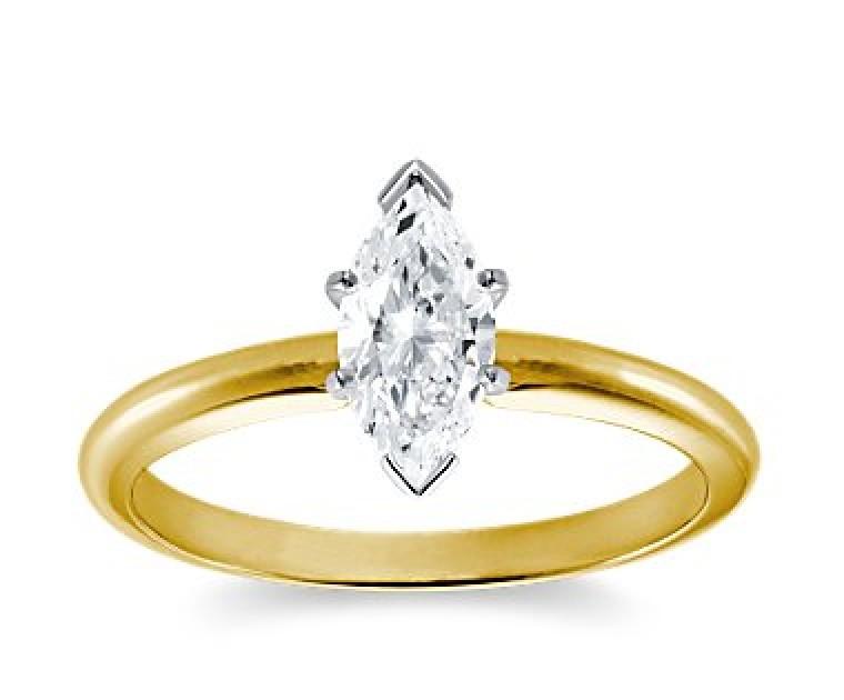 Original Empire 1,00 ct Diamantring in Gelbgold