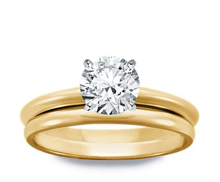 Original Empire 1,25 ct Diamantring in Gelbgold