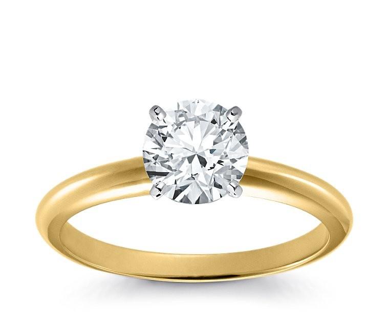 Original Empire 1,50 ct Diamantring in Gelbgold