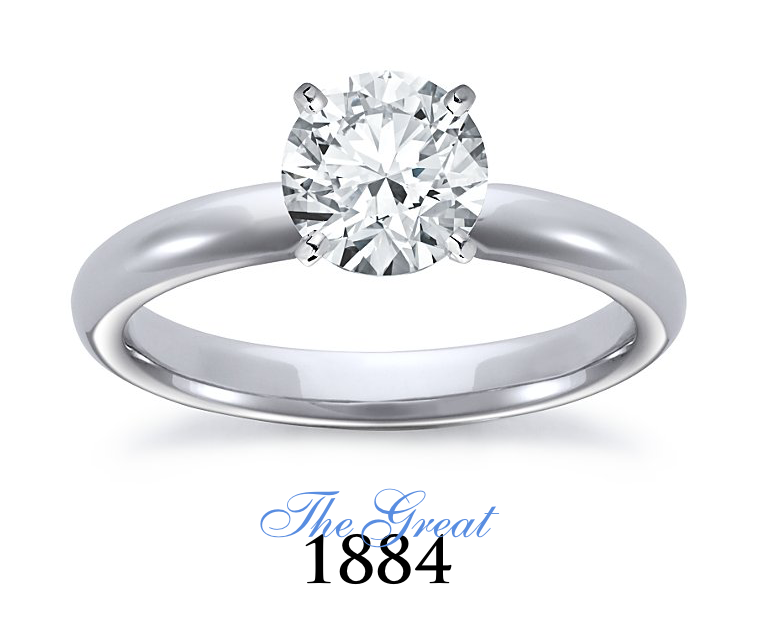 The Great 1884 - 1,50 ct Diamantring in Weissgold