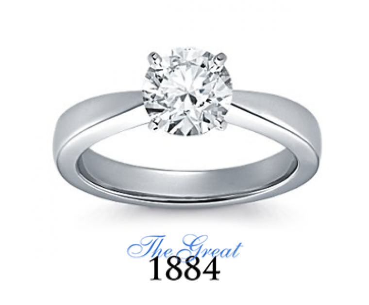 The Great 1884 - 1,25 ct Diamantring in Weissgold