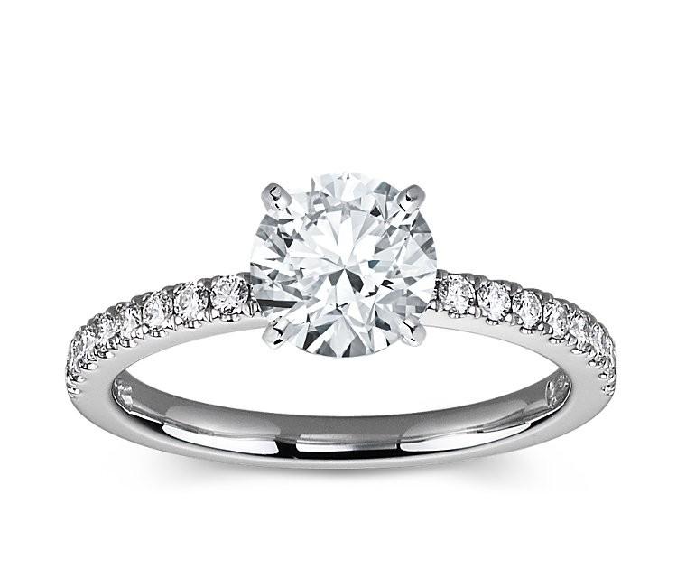 The Queen Diamond - 1,50 ct Zentraldiamant + 0,36 ct Seitensteine Diamantring in Weissgold