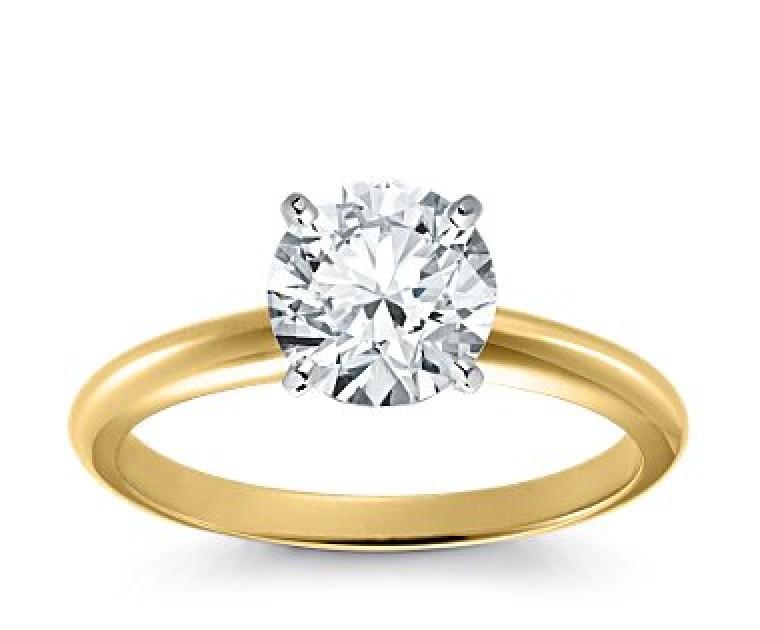 Original Empire 2,00 ct Diamantring in Gelbgold