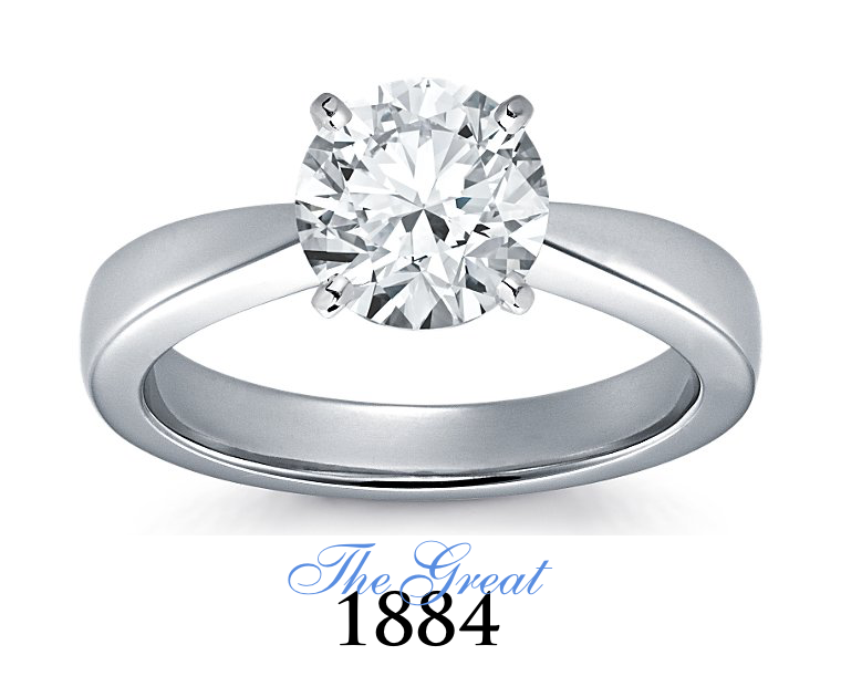 The Great 1884 - 2,00 ct Diamantring in Weissgold