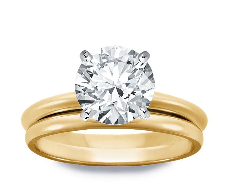 Original Empire 2,50 ct Diamantring in Gelbgold