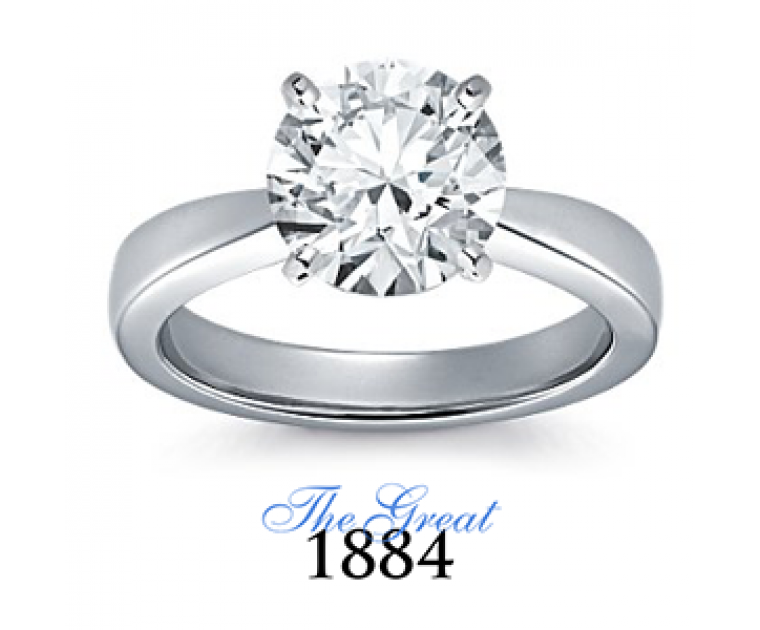 The Great 1884 - 2,50 ct Diamantring in Weissgold