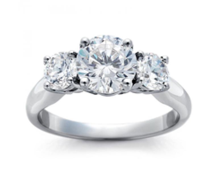 The Queen Diamond - 0,50 ct DIAMANTRING MIT SEITENSTEINEN (Zentraldiamant +2x0,30ct)