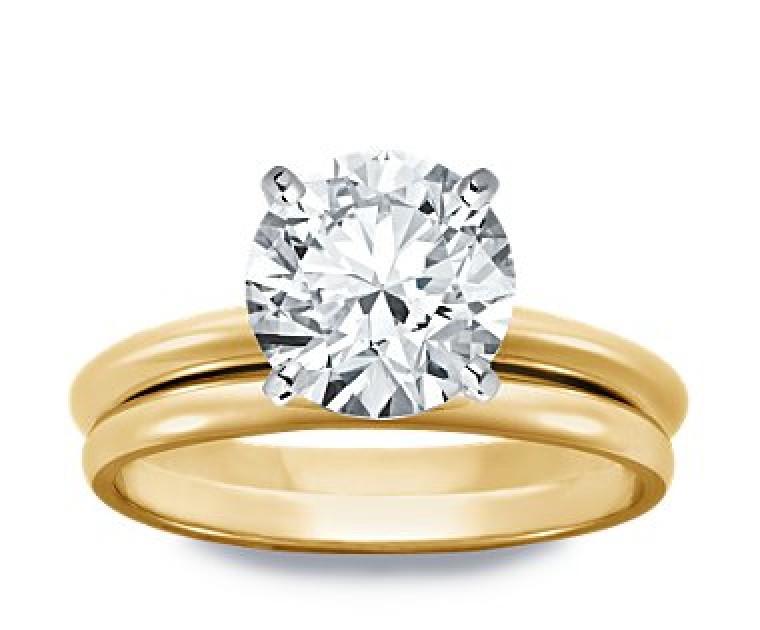 Original Empire 4,00 ct Diamantring in Gelbgold