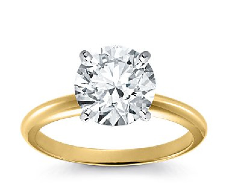 Original Empire 3,00 ct Diamantring in Gelbgold