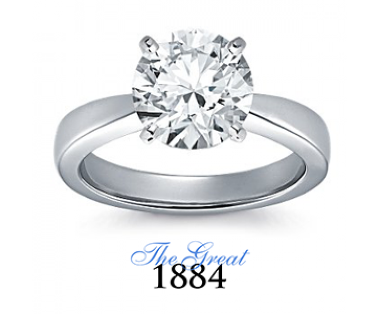 The Great 1884 - 3,00 ct Diamantring in Weissgold