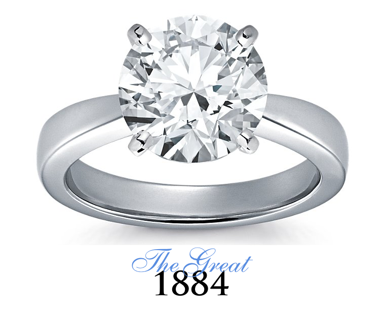 The Great 1884 - 4,00 ct Diamantring in Weissgold