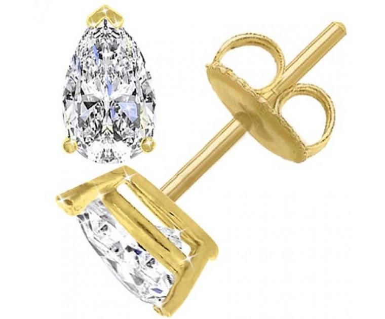 The Great 1884 1,50 ct Diamantohrringe in Gelbgold