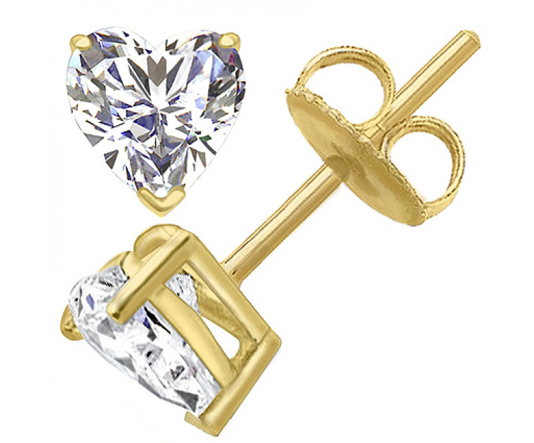 Original Empire 4,00 ct Diamantohrringe in Gelbgold
