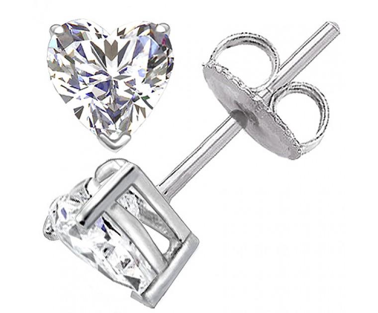 Original Empire 0,80 ct Diamantohrringe in Weissgold