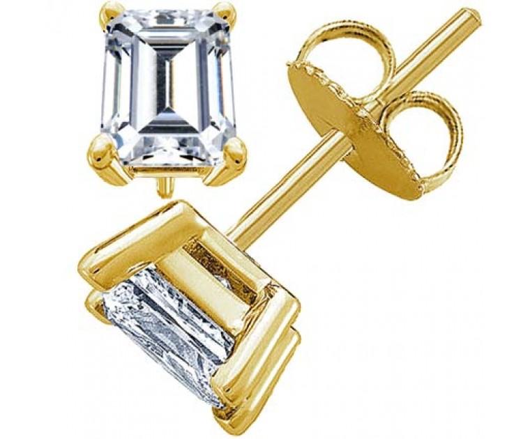 Original Empire 3,00 ct Diamantohrringe in Gelbgold