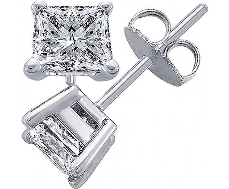 Original Empire 0,50 ct Diamantohrringe in Weissgold