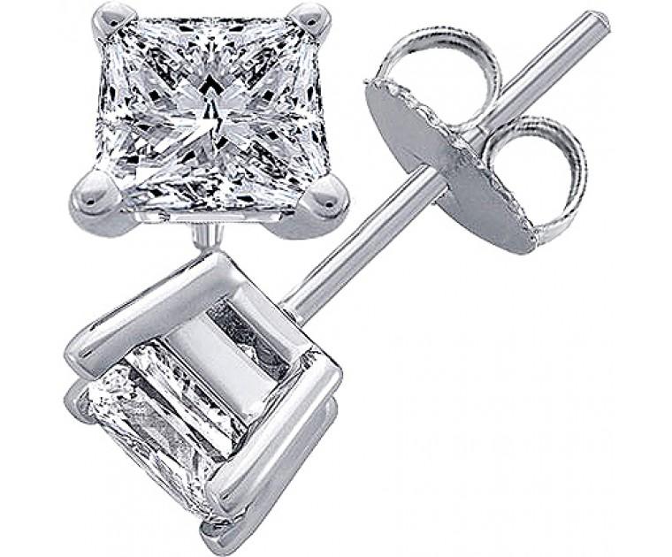 Original Empire 2,00 ct Diamantohrringe in Weissgold