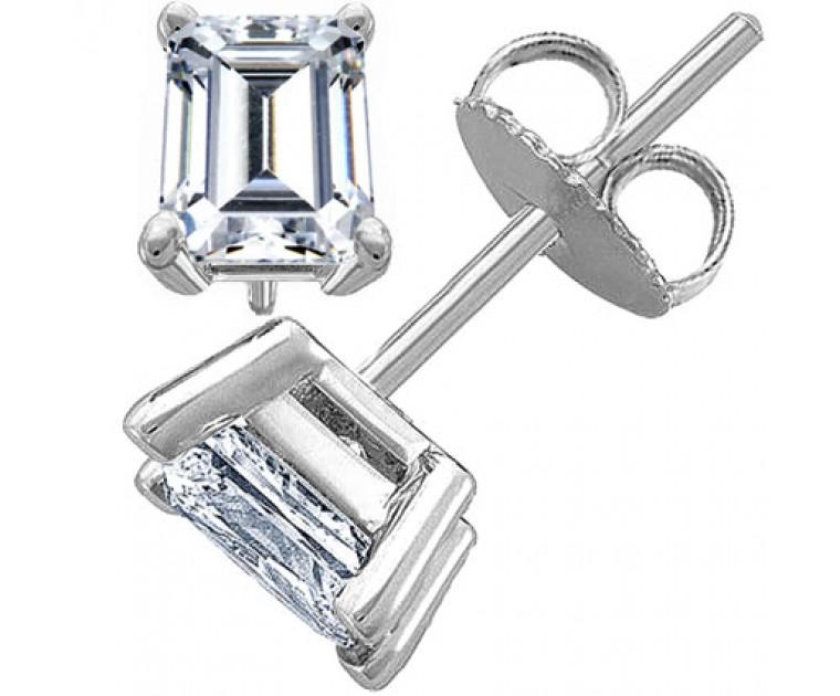 Original Empire 1,00 ct Diamantohrringe in Weissgold