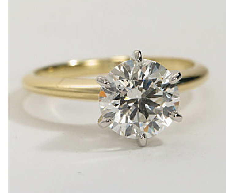 Original Empire 1,00 ct Diamantring in Gelbgold - sofort verfügbar