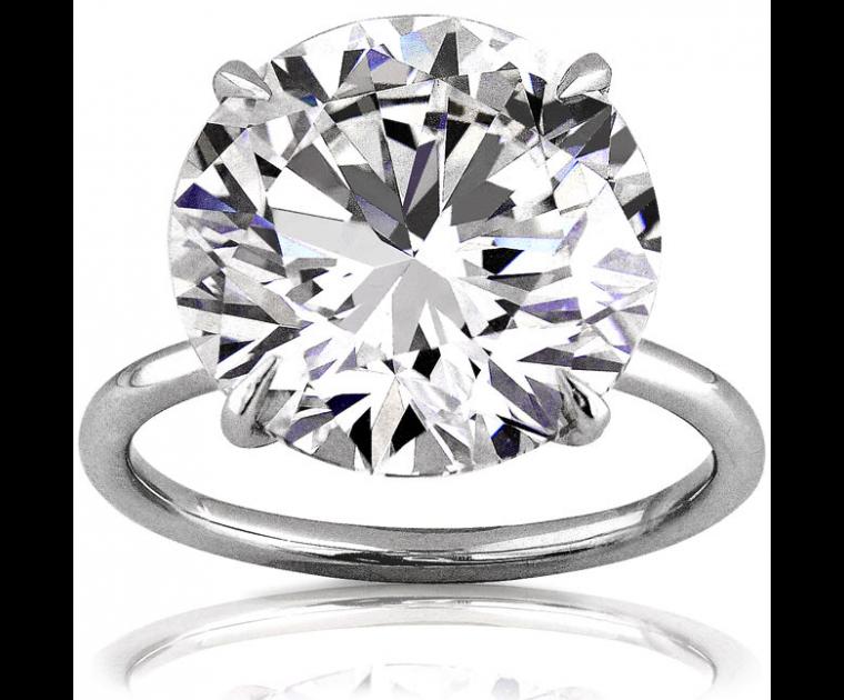 Original Empire 10,02 ct Diamantring in Weissgold 750 - sofort verfügbar