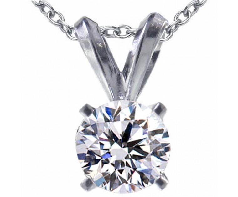 Original Empire 0,70 ct Diamant Anhänger in Weissgold