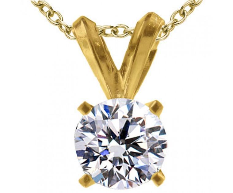 Original Empire 1,50 ct Diamant Anhänger in Gelbgold