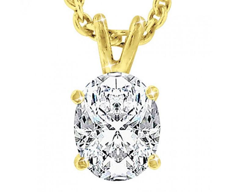 Original Empire 0,70 ct Diamant Anhänger in Gelbgold